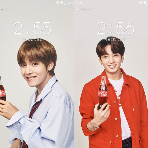 방탄소년단(BTS) 코카콜라 폰 배경화면 & 잠금화면 36장