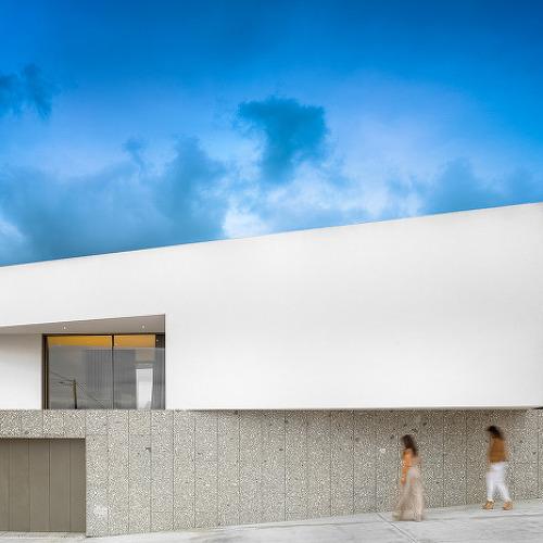 언덕을 살린 설계가 돋보이는 심플주택, Brunhais House