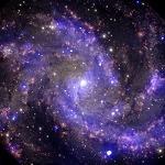 초신성 폭발하는 불꽃 은하