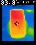 (열화상)삼성 갤럭시S7 무선 충전시 발열