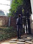 [20대 시크한 남자 봄 코디] 남자 체크 자켓 코디 : 브랜드 [바쏘옴므] 글랜체크 자켓 (다크그레이)