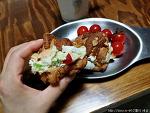 감자샐러드를 넣은 크루아상 샌드위치 맛은?