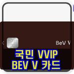 국민 BEV V (베브 파이브) 카드 혜택 정리