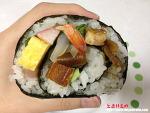 [도쿄음식] 12가지 재료로 만든 해산물 김밥, 소용돌이 김밥!