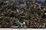 중국의 공공자전거 공급과잉으로 방치된 엄청난 자전거들