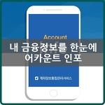 어카운트인포 - 계좌정보 통합관리 서비스 소개
