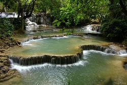 꽝시폭포 (Kuang Si Waterfall)