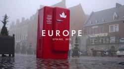 캐나다 여권을 인식시키면 맥주가 가득찬 빨간 냉장고가 열린다! 몰슨 캐내디언 맥주(Molson Canadian Beer)가 유럽 곳곳에 놔둔 빨간색 맥주 냉장고(The Beer Fridge) - 당신의 여권을 스캔하세요(Scan You..