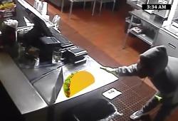 빈집털이 좀도둑이 찍힌 CCTV영상으로 지명수배 겸 레스토랑을 광고하는 바이럴필름으로 만들다, 라스베가스의 타코(Grilled Tacos) 전문 레스토랑 '프리홀레스 앤 프레스카스(Frijoles & Frescas)'의 '..