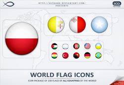 세계 국기 무료 아이콘 (World Flag Icons ICO)