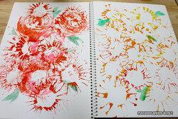 재활용품을 이용해 아빠와 함께 그린 봄꽃그림~ 봄이 왔어요~!