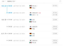 리우올림픽 축구 중계 정보 (대한민국 독일, 멕시코 경기시간, 방송 채널)