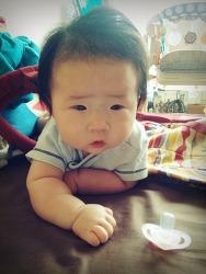 2015년 4월, 5개월 아기 찌찌