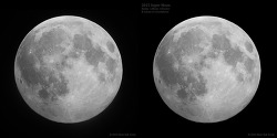single Moon image vs. ten stacked Moon image
