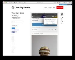 → LITTLE BIG DETAILS :: 디테일이 훌륭한 UI/UX 예시를 모아놓은 웹사이트