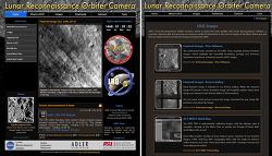 달의 고해상도 이미지를 볼 수 있는 웹사이트 LROC website