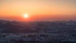 [2018/03/16] 남한산성에서 본 일몰과 야경