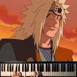【조용피아노】 나루토 Naruto OST Shirohae (白映) Piano 피아노 : 지라이야의 죽음 Jiraiya's Death 1/2