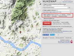 서울에 북한의 핵무기가 떨어진다면? 핵폭탄 시뮬레이터 NUKEMAP