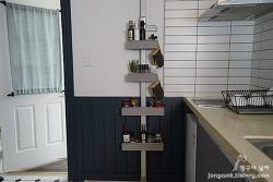 맥맨 아이디어 멀티 시스템 선반을 설치해 보니 주방과 욕실의 수납 공간활용 아이템으로 제격