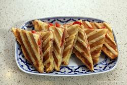 파니니 만드는 법 휴일 브런치 메뉴로  따듯한 샌드위치를