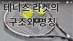 테니스 라켓의 구조와 명칭 - 테니스 서브 아카데미 Tennis Serve Academy