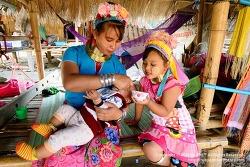 태국 치앙라이 여행 / 목이 길어야 미인이라는 카렌족(롱넥족) 마을