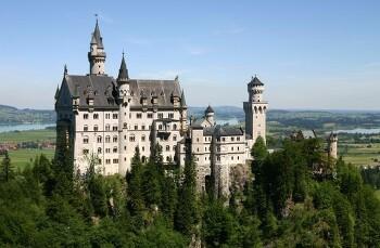 독일 퓌센의 노이슈반슈타인 성 (백조의 성)
