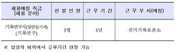 [채용공고]재공고_ 중앙선거관리위원회 기록연구사(일반임기제) 채용