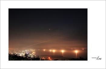 [제주] 사라봉 야경 - 비행기궤적을 함께...