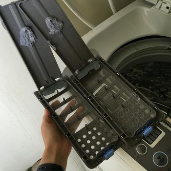 LG 통돌이 세탁기 통교체 무상 A/S 받았어요!