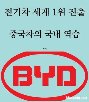 전기차 세계 1위 한국 진출, 시작된 중국차의 역습