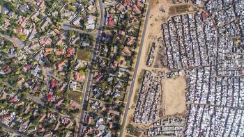 하늘에서 본 남아공의 빈부 격차