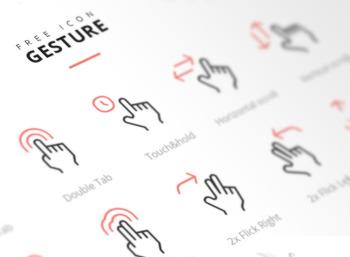 손으로 표현하는 무료 제스처 아이콘 입니다.