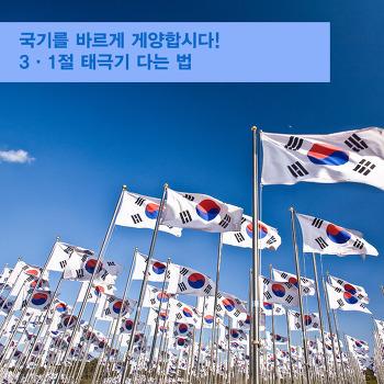 국기를 바르게 게양합시다! 삼일절 태극기 다는 법