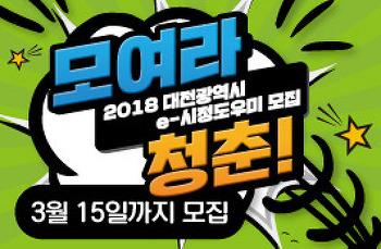2018 대전광역시 e-시정도우미(제16기) 모집(3월 15일까지)