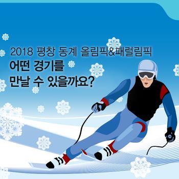 2018 평창 동계올림픽 경기 종목 알아보기! [화제집중]
