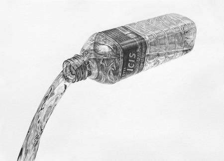 [정물소묘/과정작] 생수병, 물