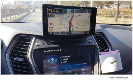 파인드라이브T 후기 산타페 DM 장착기, 자동차 네비게이션 태블릿을 쓰자