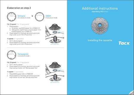 탁스 네오 스마트(TACX NEO SMART) 스프라켓 설치 메뉴얼