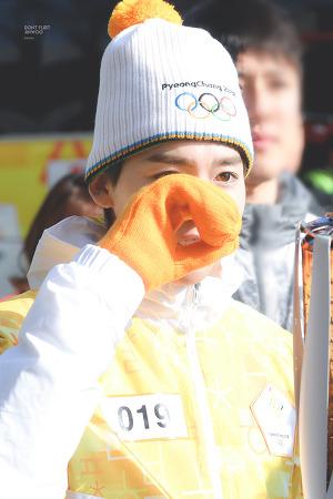 180105 수원 평창 올림픽 송화봉송 위너 김진우