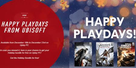 유비 소프트 와치도그(Watch Dogs).Assassin 's Creed IV Black Flag,World in Confli 크리스마스 프로모션