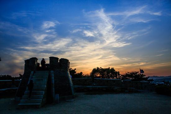 유네스코 세계문화유산, 수원 화성 - 멋진 석양과 실루엣