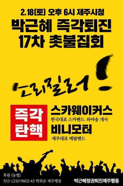 박근혜 즉각퇴진 17차 촛불집회