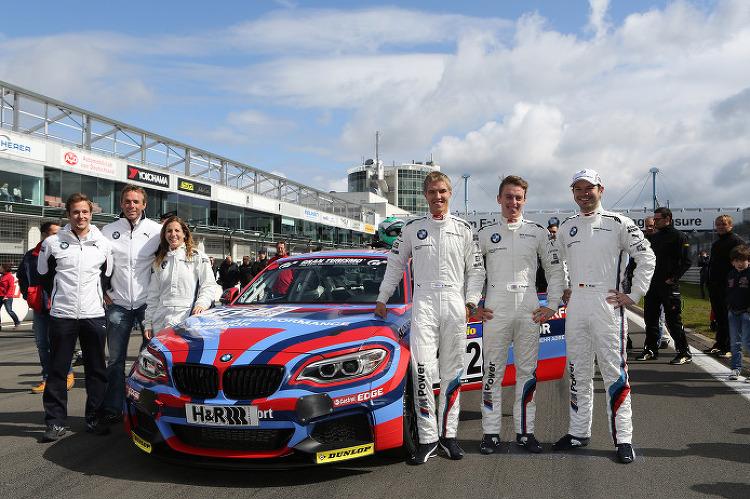BMW Motorsport Juniors line up at Barcelon..