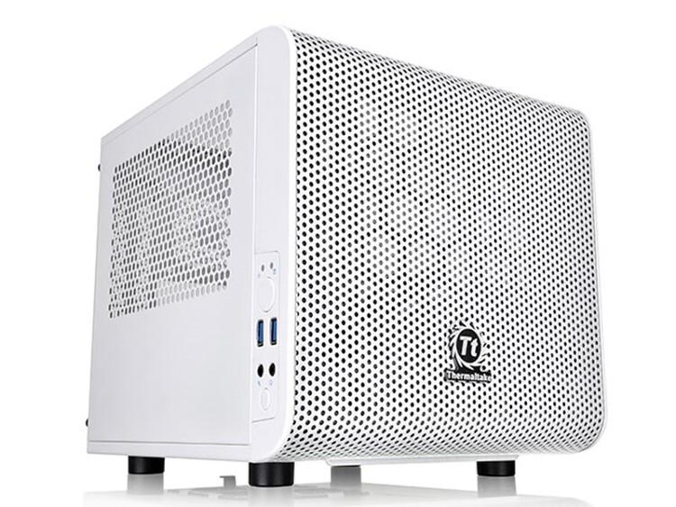 커스텀 수냉 조립식 ITX 컴퓨터케이스 써멀테이크 코어 V1 스노우 에디션
