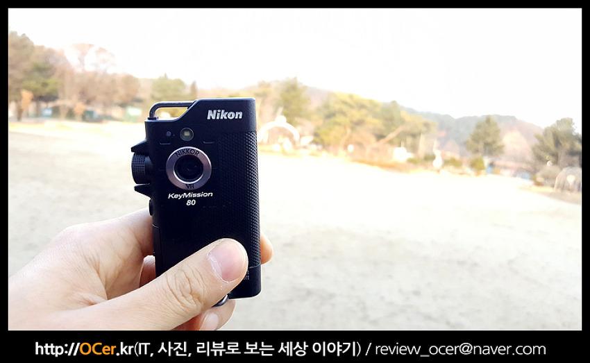 한손으로 쉽게 찍을 수 있는 액션캠 니콘 키미션80