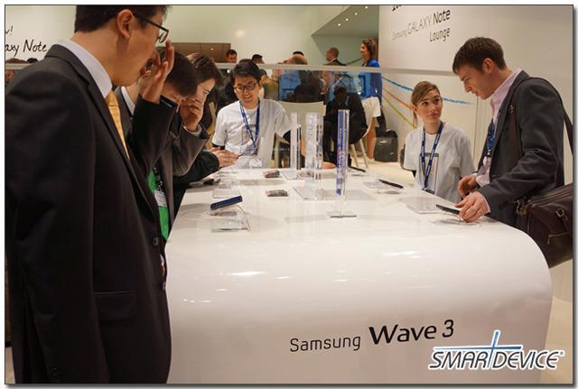 mwc, mwc2012, 삼성, 삼성전자 스마트폰, 웨이브3