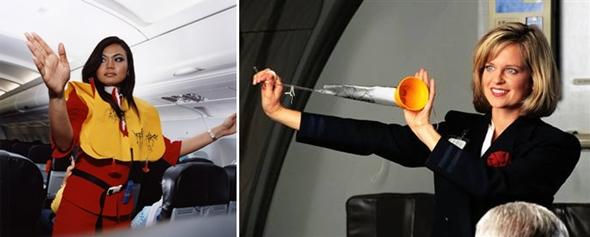 항공기를 타면 늘 접하게 되는 안전데모 (Safety Demonstration)