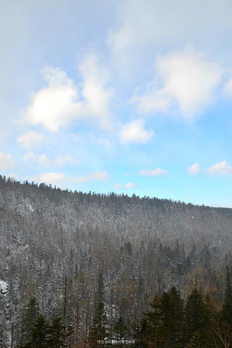눈보라 속 백두산(장백산) 겨울여행 (북쪽 루트) (길림성 2-1호)
